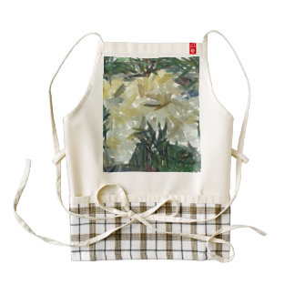 Splash of color in a garden zazzle HEART apron