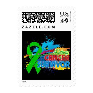 Splash of Color - Kidney Cancer Survivor Stamps