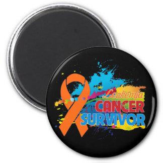 Splash of Color - Leukemia Survivor 2 Inch Round Magnet