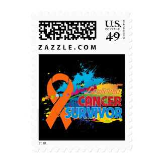 Splash of Color - Leukemia Survivor Postage Stamps