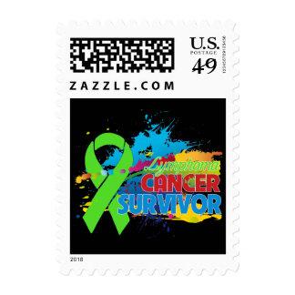 Splash of Color - Lymphoma Survivor Postage Stamp