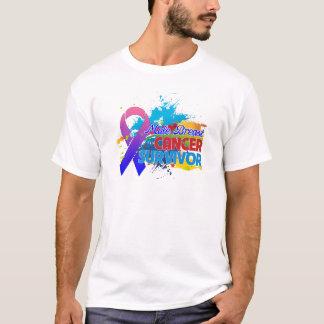 Splash of Color - Male Breast Cancer Survivor T-Shirt