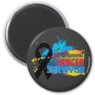 Splash of Color - Melanoma Survivor 2 Inch Round Magnet