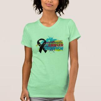 Splash of Color - Melanoma Survivor T-Shirt