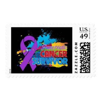 Splash of Color - Pancreatic Cancer Survivor Postage