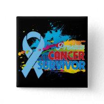 Splash of Color - Prostate Cancer Survivor Pinback Button