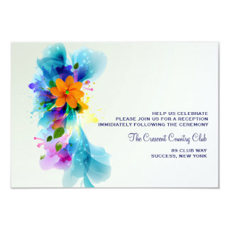 Splash of Color Reception Card