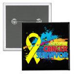 Splash of Color - Sarcoma Survivor Button