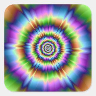 Splash of Color Square Sticker