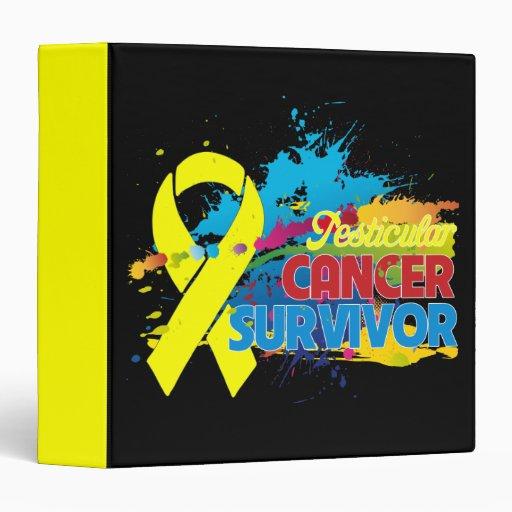 Splash of Color - Testicular Cancer Survivor Binde 3 Ring Binders