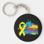 Splash of Color - Testicular Cancer Survivor Keychain