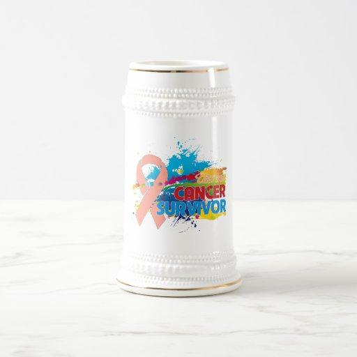 Splash of Color - Uterine Cancer Survivor Coffee Mugs
