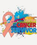 Splash of Color - Uterine Cancer Survivor Tee Shirts