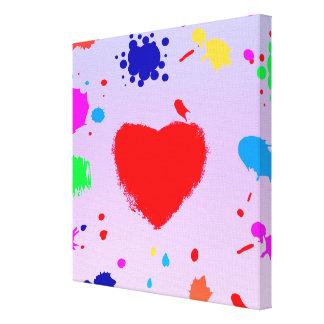 Splash of Colors Stretched Canvas Prints