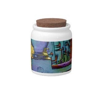 Splash of colour. ceramic sweet jar