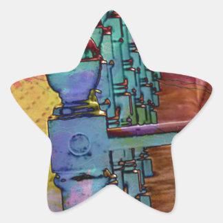 Splash of colour. star sticker