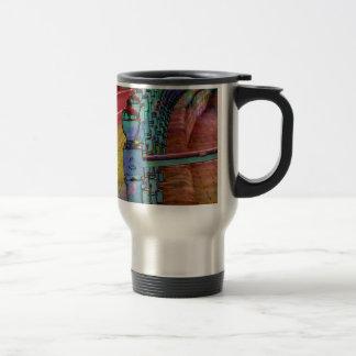 Splash of colour. travel mug