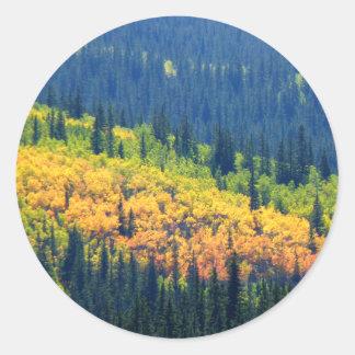 Splash of Fall Color Sticker