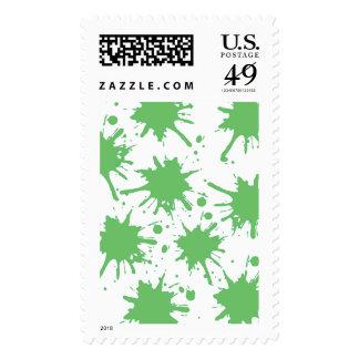 """Splash Of Green"" Stamp"
