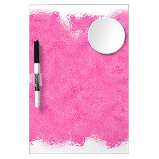 Splash of HOT PINK Dry Erase Board With Mirror