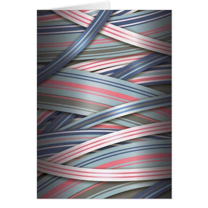 Splash of Pink flowing ribbons Card