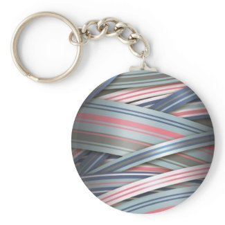 Splash of Pink flowing ribbons zazzle_keychain