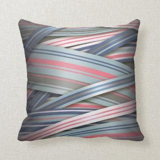 Splash of Pink flowing ribbons Throw Pillow