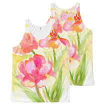 Splash of Pinks All-Over-Print Tank Top