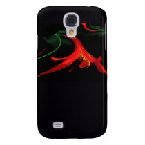 Splash of Red Lily Floral Fractal Design Galaxy S4 Cover
