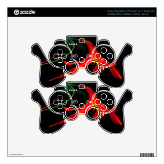 Splash of Red Lily Floral Fractal Design Skin For PS3 Controller