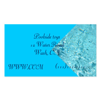 Splash of water business card