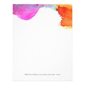 Splash of Watercolor Letterhead