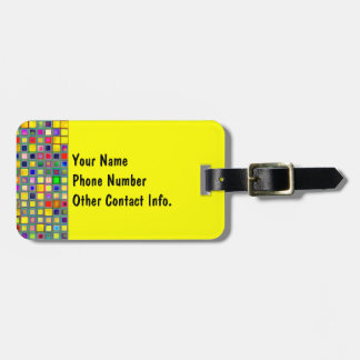 Splash Of Yellow Multicolored 'Clay' Tile Pattern Tags For Bags