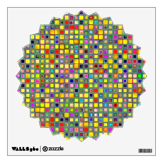 Splash Of Yellow Multicolored 'Clay' Tile Pattern Wall Sticker