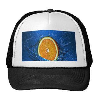splash orange eager to love wet trucker hat