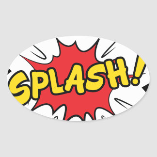 splash oval sticker