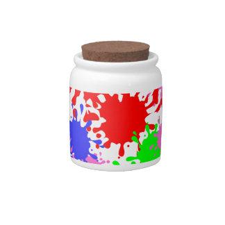 Splash Paint Candy Jars
