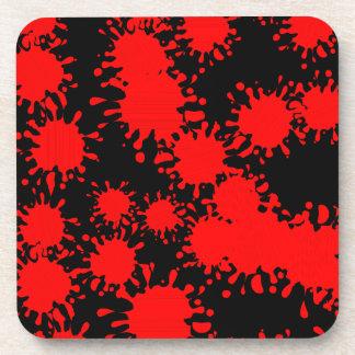 Splash Paint Red Coaster