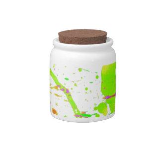 Splash Painting Candy Jars