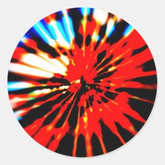 Splash Pattern Abstract Design Classic Round Sticker