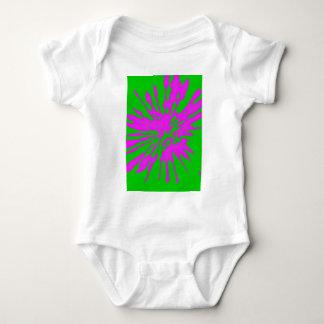 Splash Pattern Green Pink Abstract Baby Bodysuit