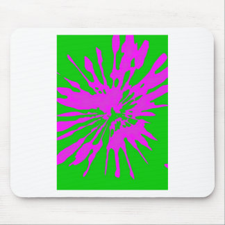 Splash Pattern Green Pink Abstract Mouse Pad