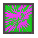 Splash Pattern Green Pink Abstract Premium Jewelry Boxes