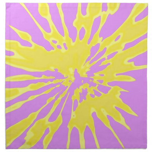 Splash Pattern Yellow and Pink Abstract Design Cloth Napkin