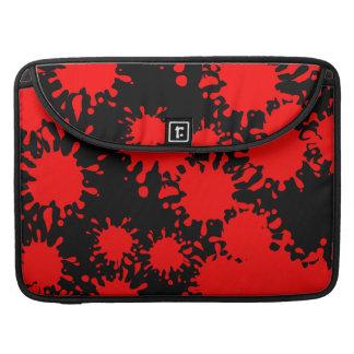 Splash Red MacBook Pro Sleeves