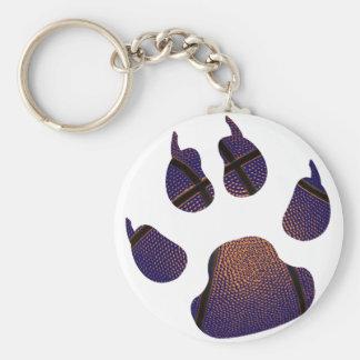 Splash Royal Blue BasketBall Claw Keychain