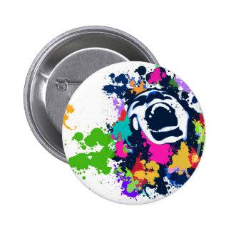 Splash Scream Pinback Button