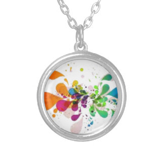 Splash Silver Plated Necklace