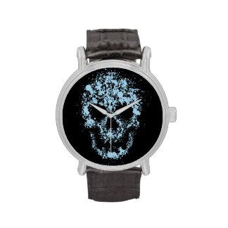 Splash skull wristwatches