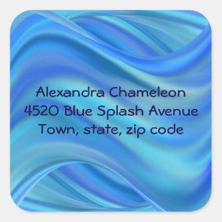splash square sticker
